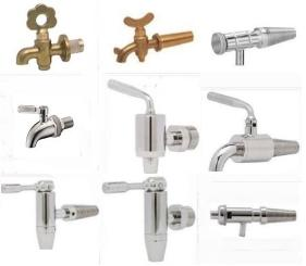 small metal taps and faucets for wine barrels and containers - in Malta