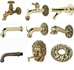 Decorative garden taps and water fountain spouts - Malta